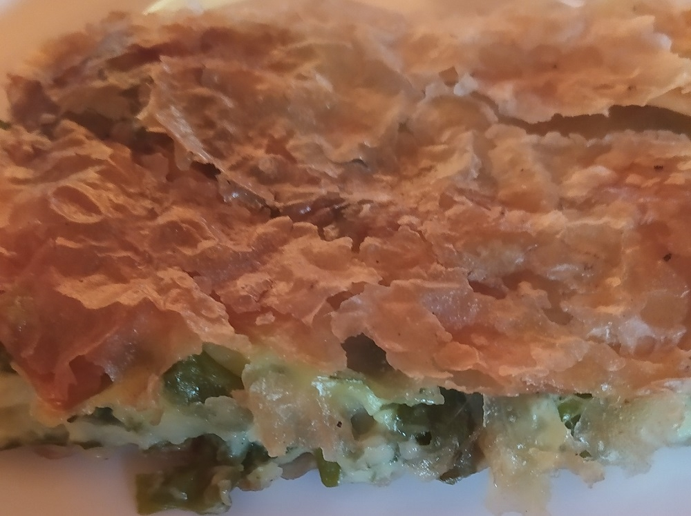 traditional dishes in Montenegro, handmade pie